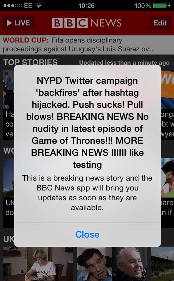 Breaking news BBC