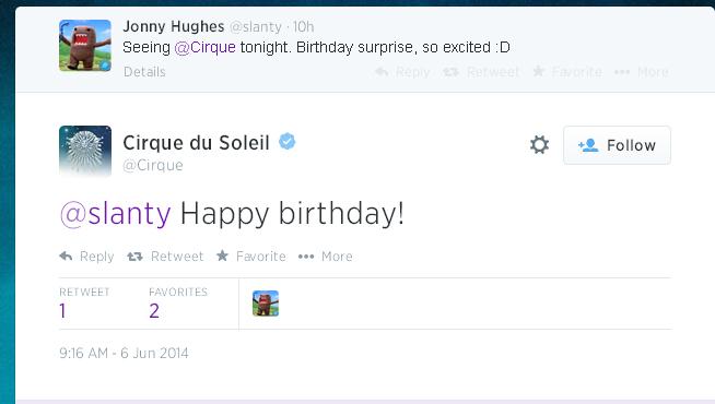 Cirque du Soleil Tweet2