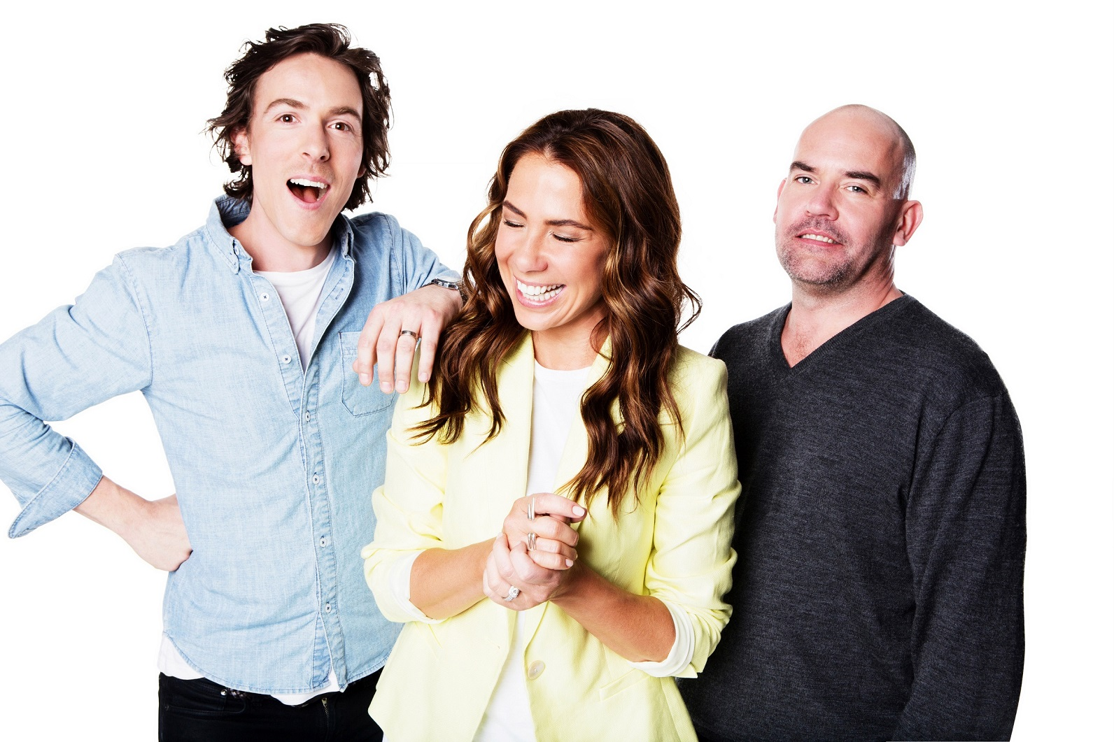 Nova's Tim Blackwell, Kate Ritchie and Marty Sheargold
