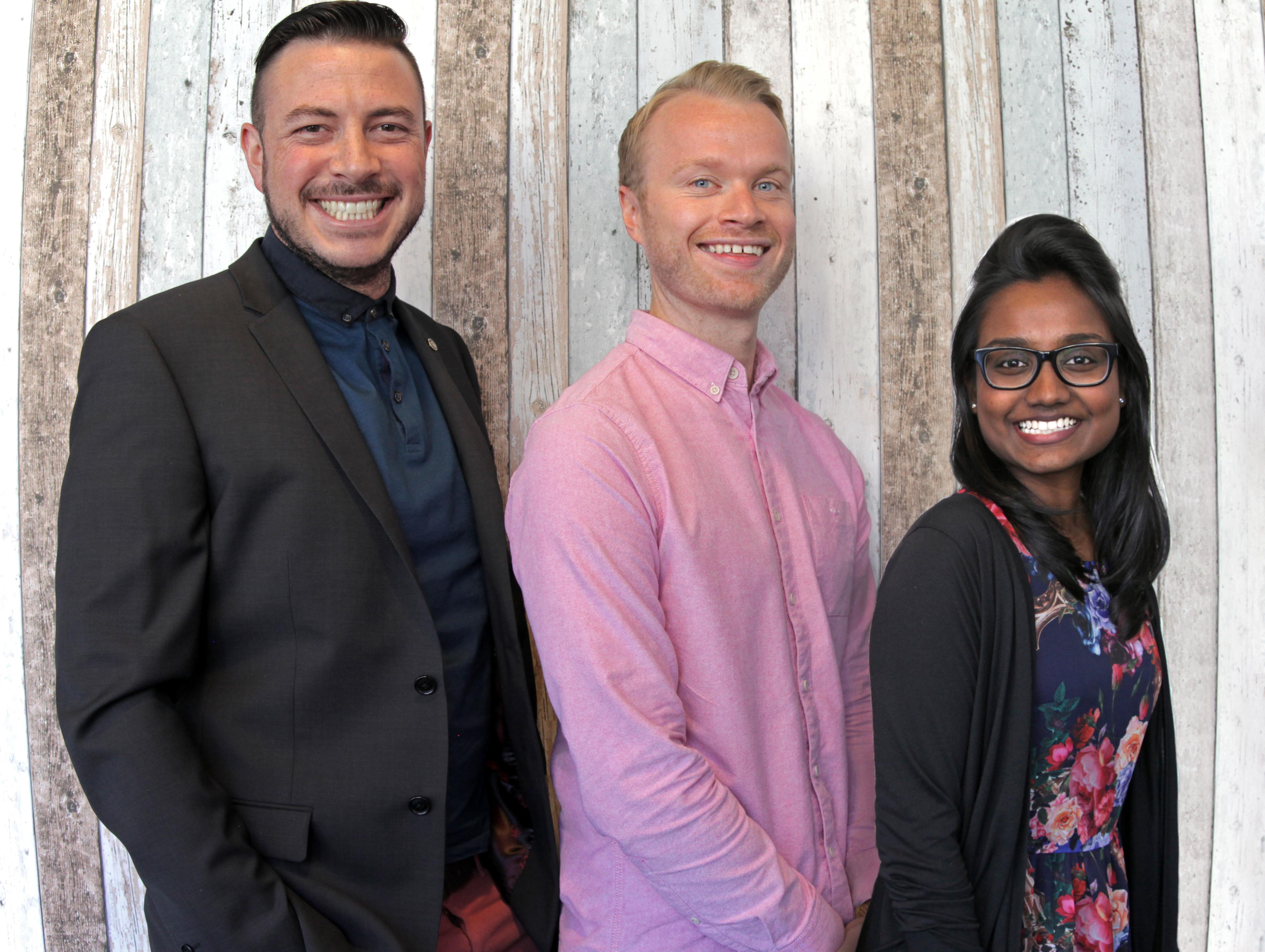 Aaron Chilcott, Colin Fairley, Dhanuj Selvaraj