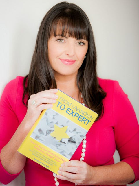 Catriona Pollard with her new book