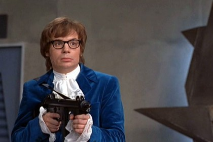 Maybe Austin Powers' velvet crush suit will be the next back in style. Image via Movie Cultist site.