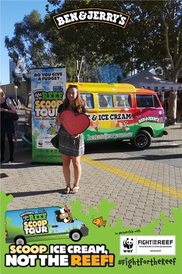 Ben & Jerry's Scoop Ice Cream, not the Reef tour. Image via Ben & Jerry Facebook Page.
