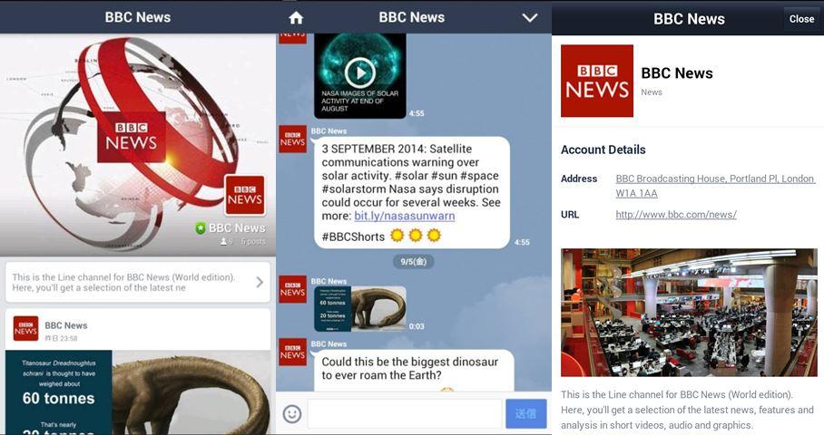 Line BBC screens