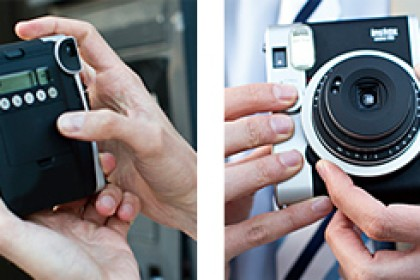 One of Fujifim's instant cameras, with a 'classic look'. Image via Fujifilm website.