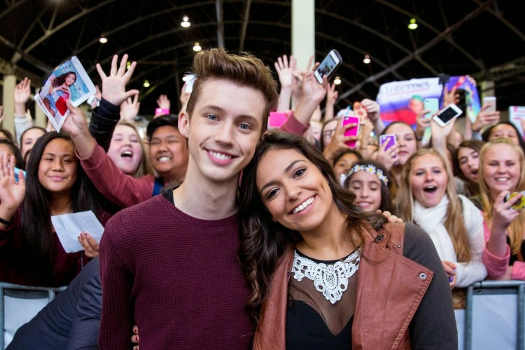 Troye Sivan and Bethany Mota at Brandcast, Sydney.
