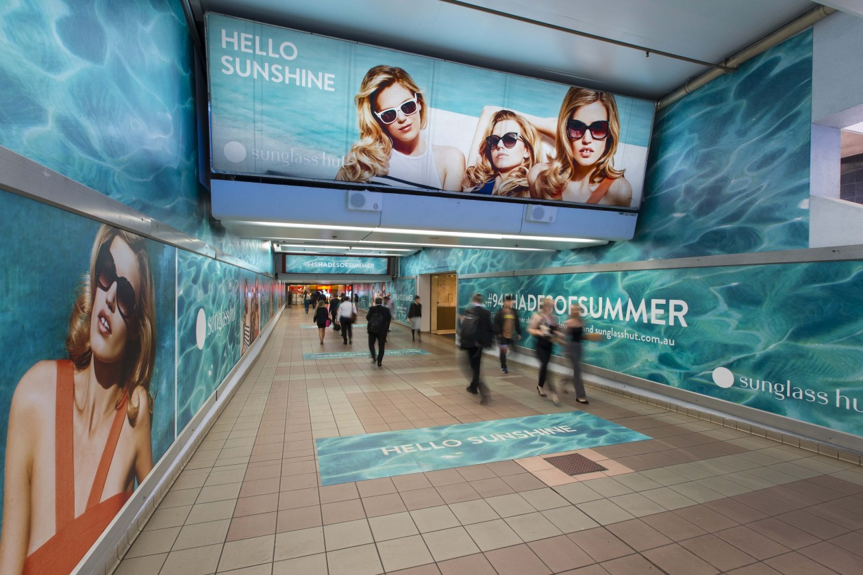 05cc06570be Campaign  Sunglass Hut Takes Over Sydney s Martin Place - B T