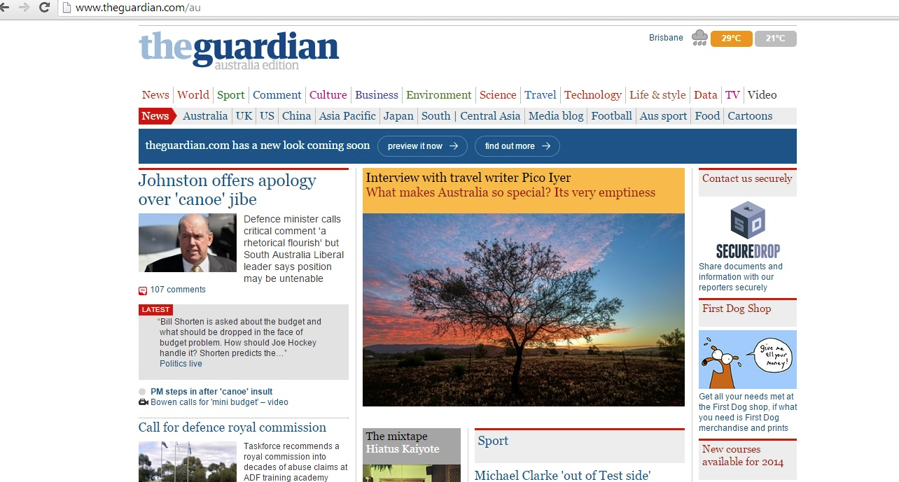 the guardian site edited