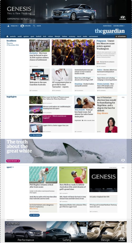 the new guardian site