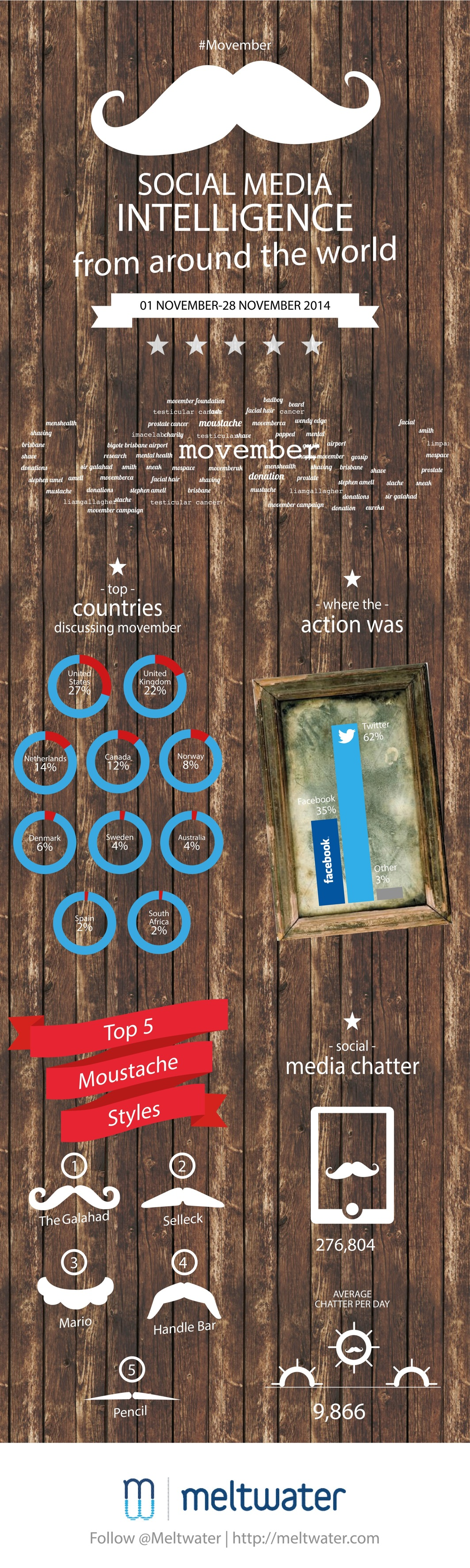 Meltwater Movember 2014 infographic