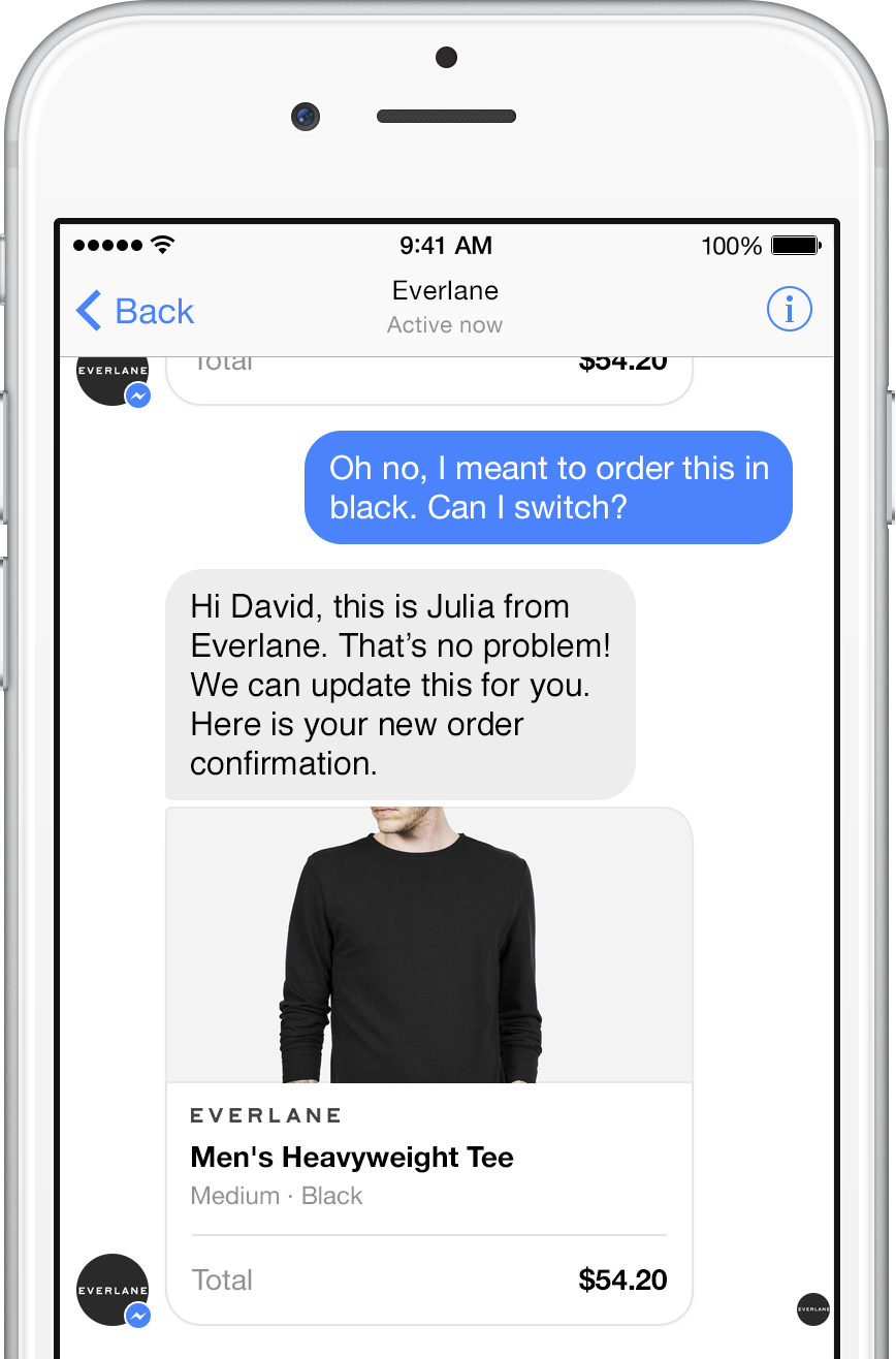 Everlane chat pic