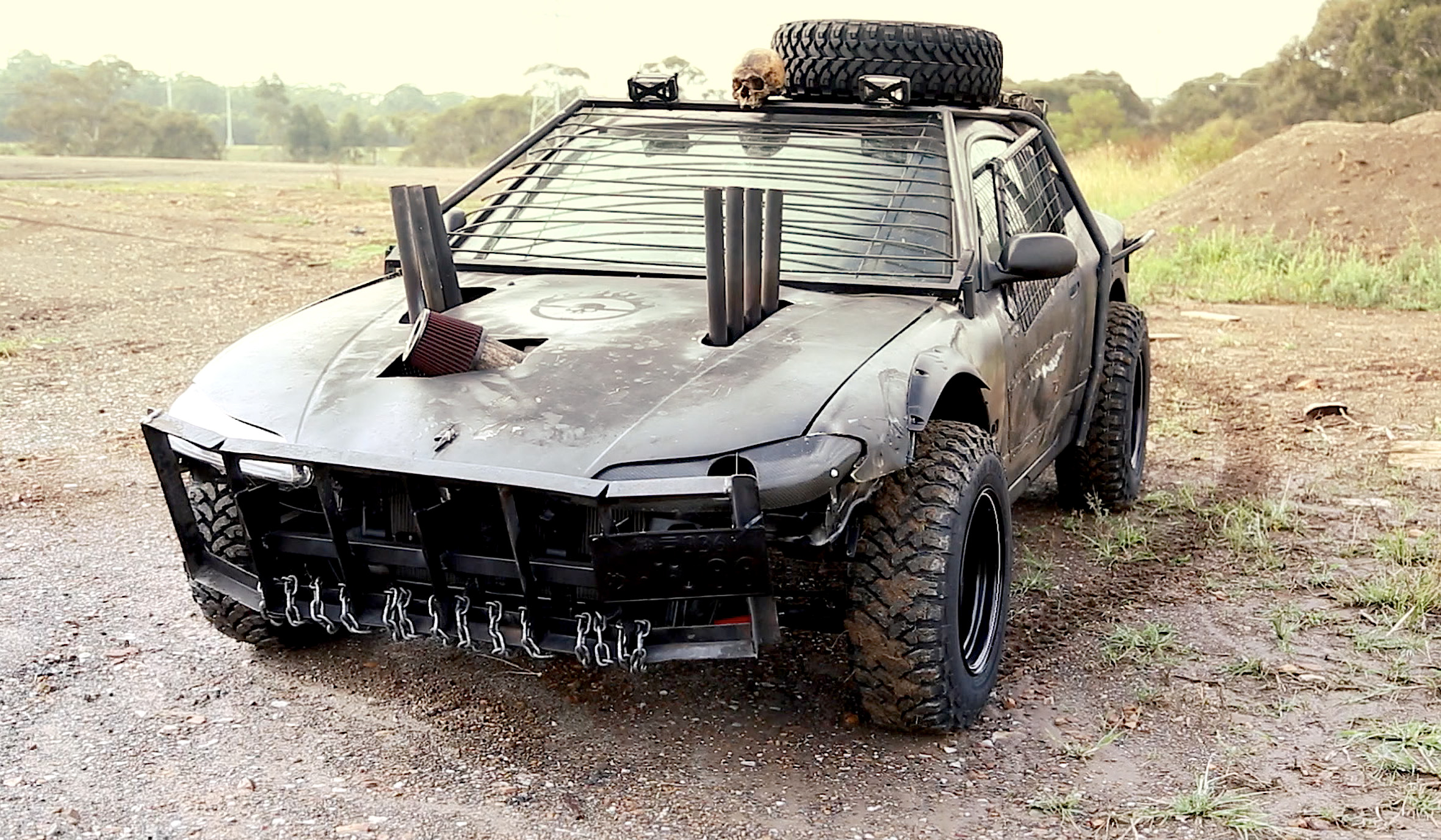 mighty car mods web series creates mad max inspired car b t. Black Bedroom Furniture Sets. Home Design Ideas