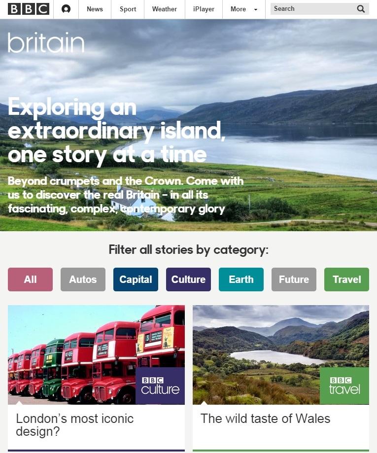 BBC Britain homepage 1