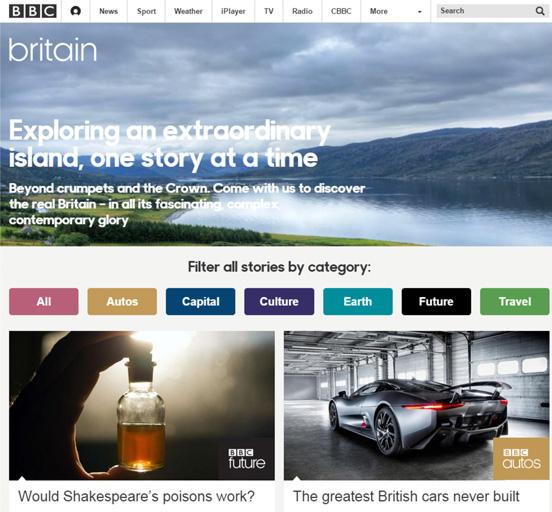 BBC Britain homepage 2