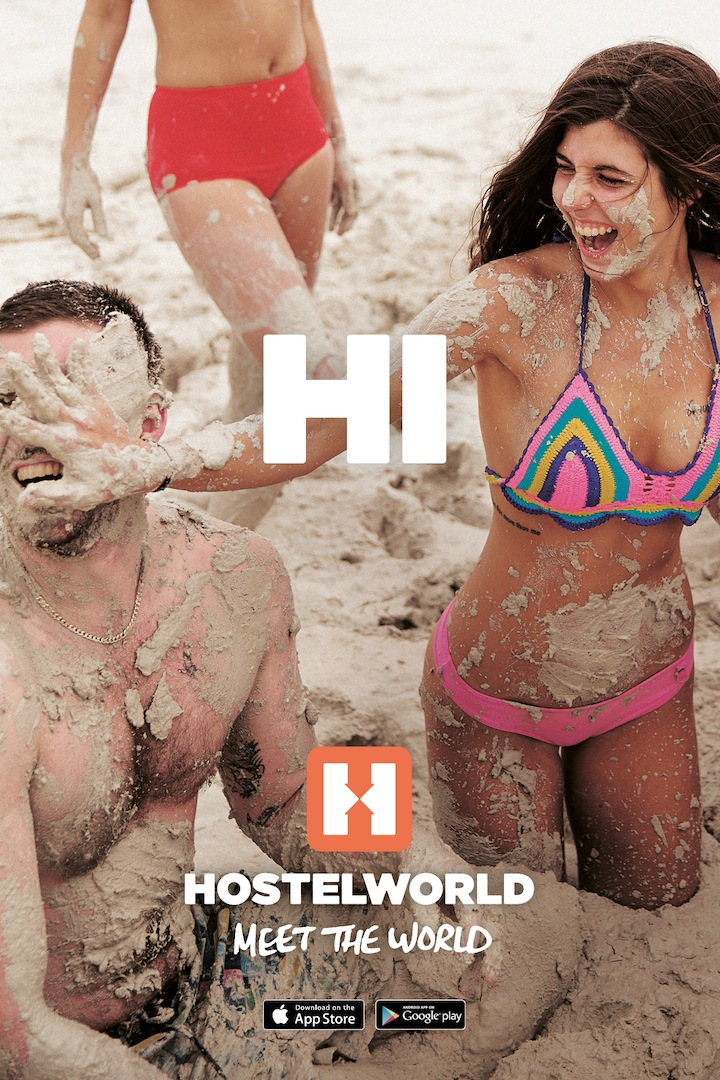 Hostelworld Mudfight OOH copy