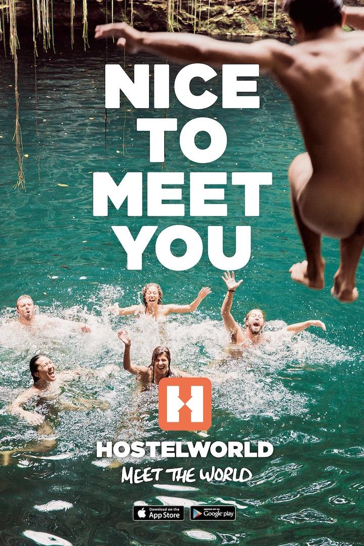 Hostelworld Skinny Dip OOH copy