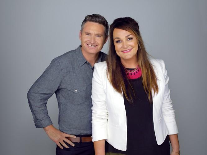 KIIS FM's national Drive Show Hughesy & Kate - Dave Hughes & Kate Langbroek - lr
