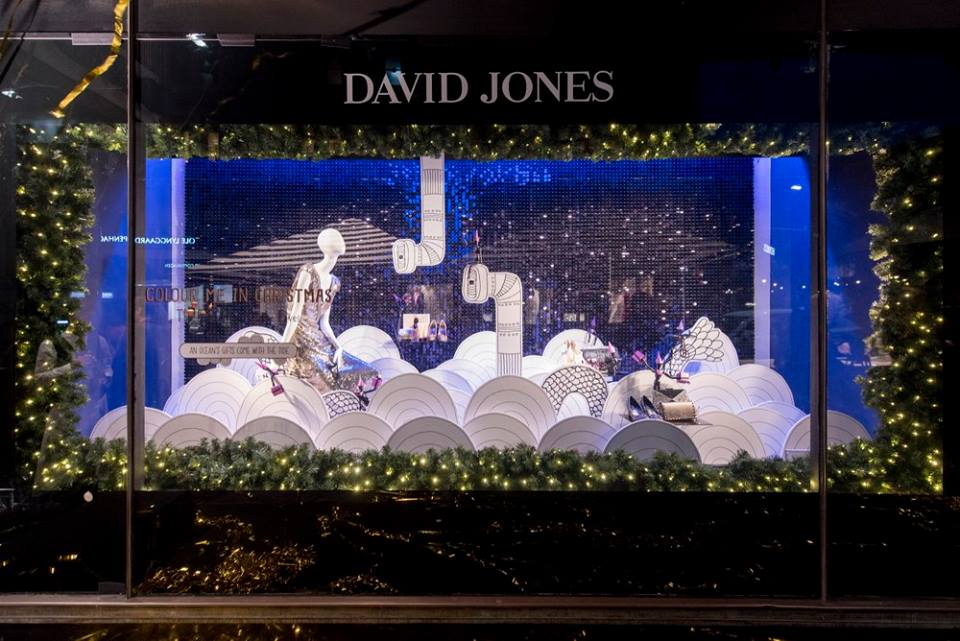- David Jones Cops Flak For Colourless Christmas Window Display - B&T