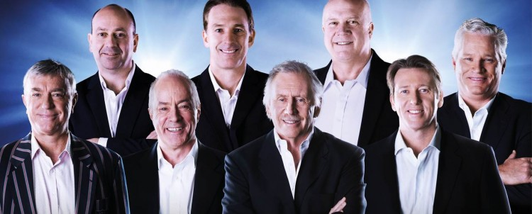 Macquarie Radio Cricket Commentary Team - Greg Matthews, Bruce Eva, Tim Lane, Damien Fleming, Ian Chappell, Carl Rackemann, Glenn McGrath, Dean Jones