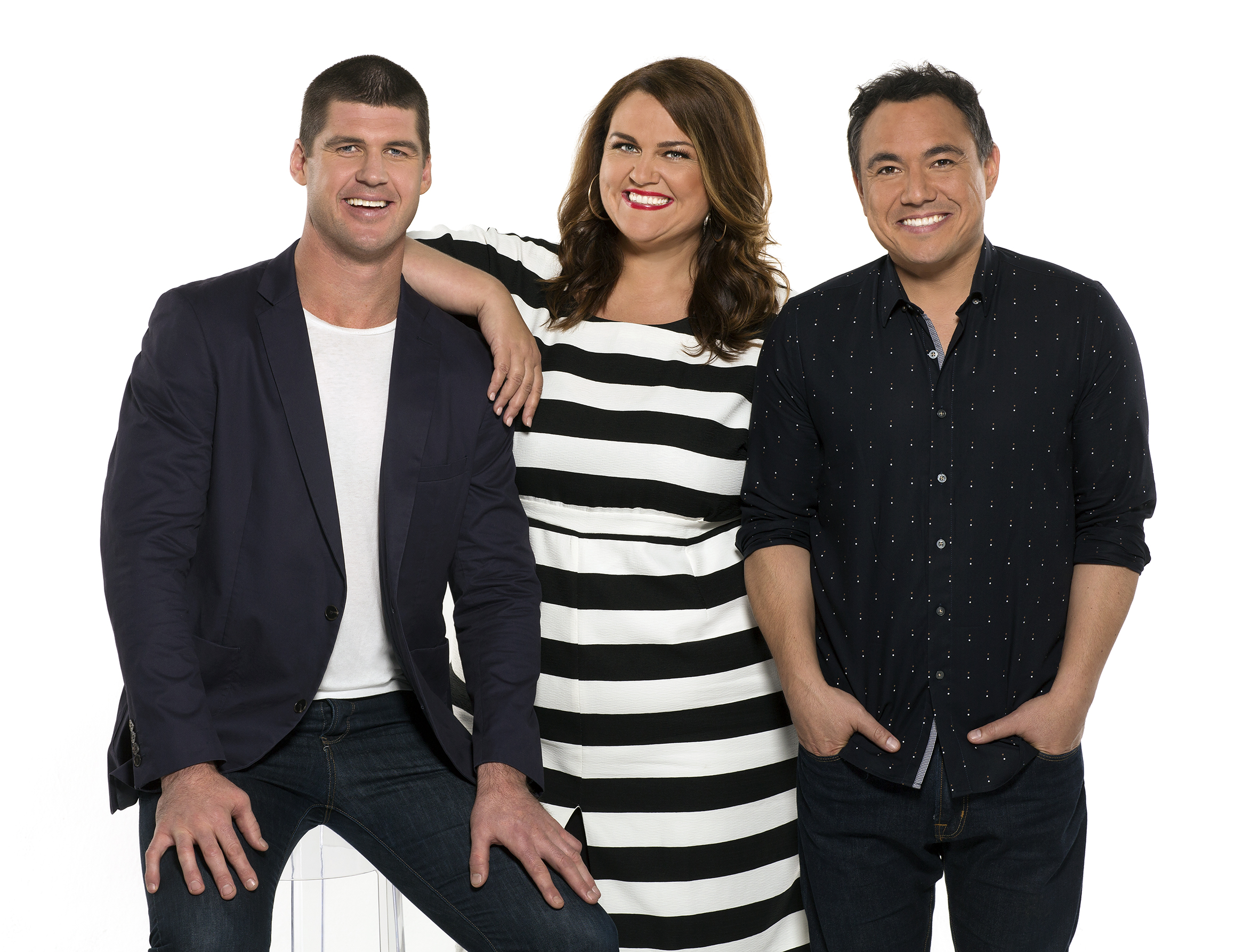 Nova 100's breakfast team 2016 Jonathan Brown, Chrissie Swan and Sam Pang
