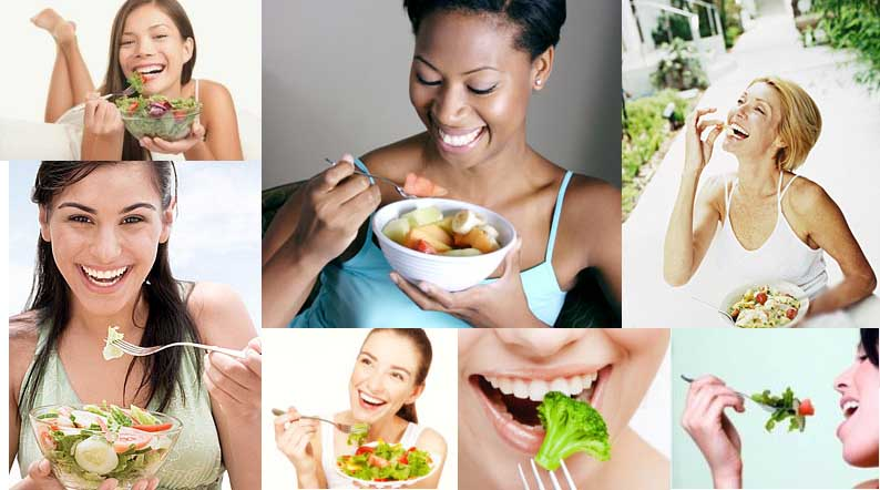 women laughing at salads not good enough for female