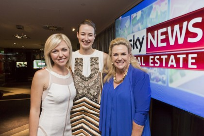 Brooke Corte, Sky News First Edition Anchor; Kate Nixon, Australian House and Garden; Prue Miller, Sky News Real Estate Co-Anchor