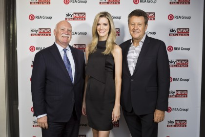 Craig Pontey, Ray White Double Bay Director; Amy Greenbank, Sky News Weather Reporter; Andrew Bell, Ray White Surfers Paradise CEO