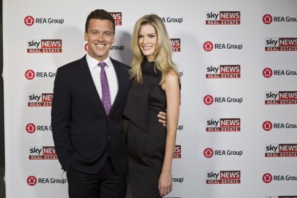 James Bracey, Sky News Sports Night Anchor; Amy Greenbank, Sky News Weather Reporter
