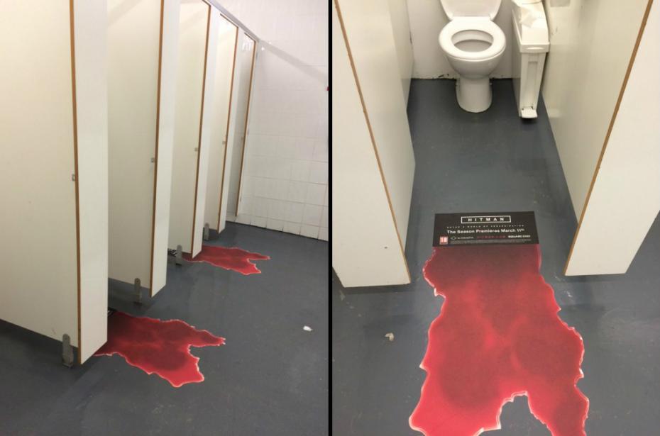 Hitman S Marketing Team Puts Fake Blood In Female Toilet