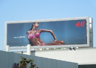 HM Bikini top billboard