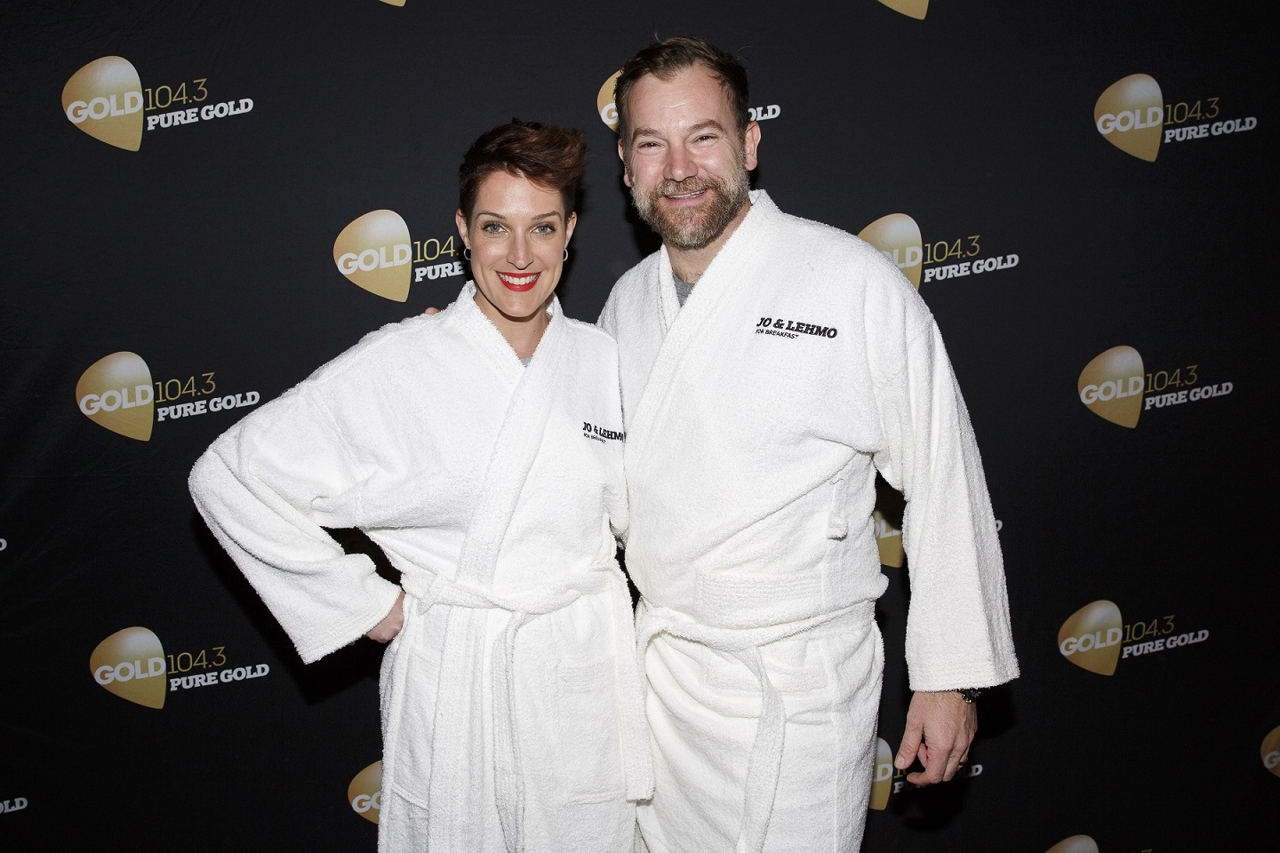 Jo Stanley and Anthony 'Lehmo' Lehmann at GOLD 1043 Jo & Lehmo's Nude Food - Australia's First Naked Restaurant (3) R