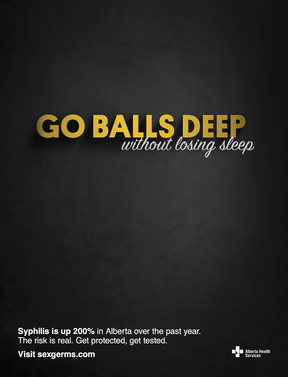 """""""Go Balls Deep Without Losing Sleep"""", Says This New STD"""
