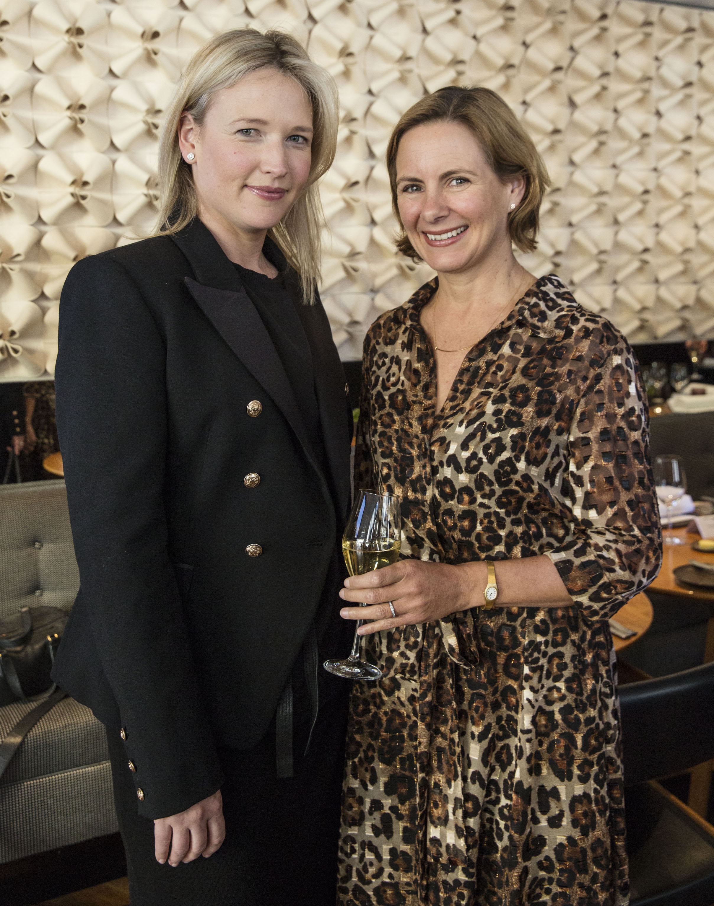 Michaela Langely from Tiffany & Co and Editor of the AFR Magazine Katrina Strickland at the AFR Watch issue launch at 44 Bridge Street on July 27, 2016 in Sydney, Australia. (Photo by Jessica Hromas:Fairfax Media)