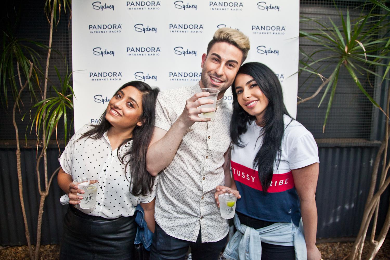 Aynaz Fathi (Pandora) with Pooja Guha and Johnnie Bitar from Zenith Optimedia