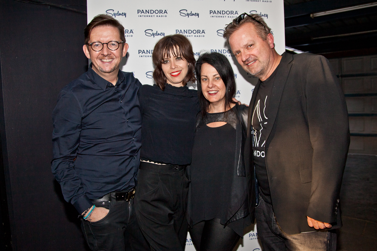 Jane Huxley, Rick Gleave, Thomas Heymann (Pandora) with Hayley from The Jezebels