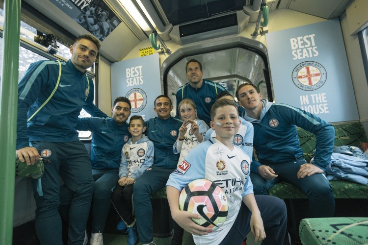 Melbourne City FC tram campaign (Noisy Beast & APN Outdoor) [2]