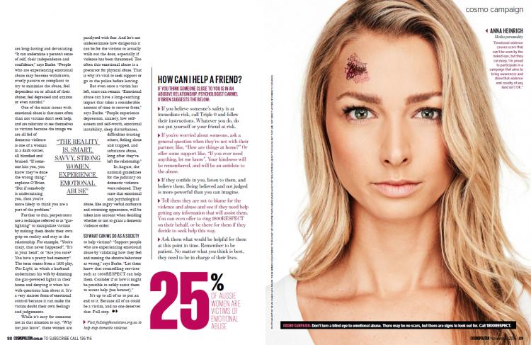 Anna Heinrich (Cosmopolitan domestic violence campaign)
