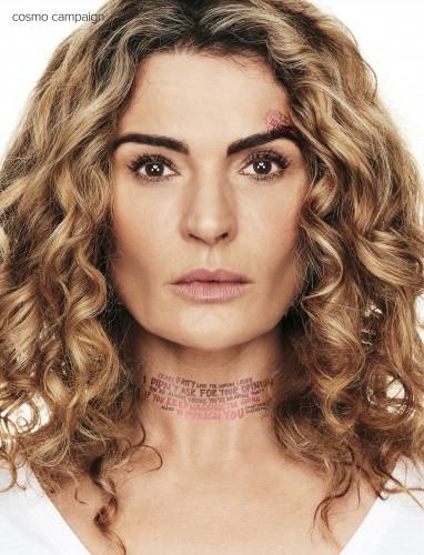 Danielle Cormack (Cosmopolitan domestice violence campaign)