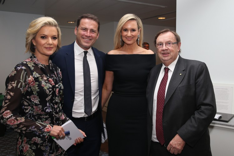 Sandra Sully, Karl Stefanovic, Mel Doyle and Harold Mitchell (Free TV campaign launch)