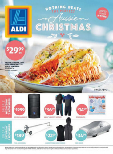 ALDI Christmas catalogue