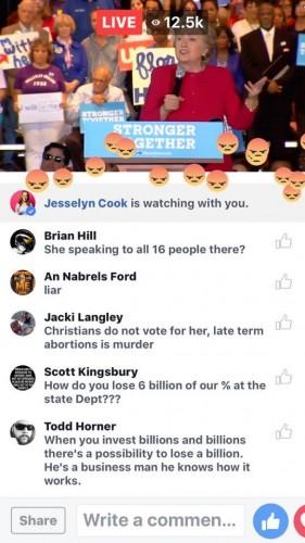 Hillary Clinton (Facebook Live)