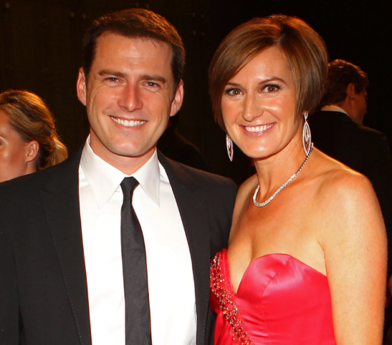 Karl Stefanovic and Cassandra Thorburn
