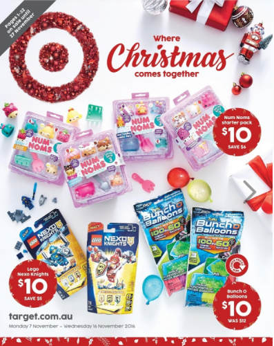 Target Christmas catalogue