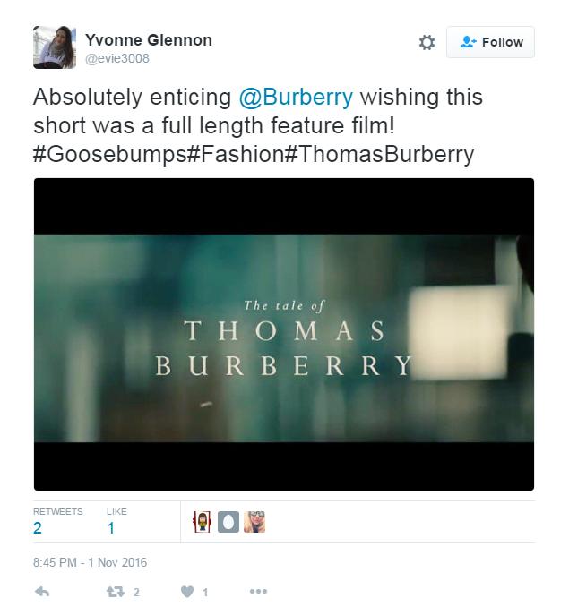 Tweet #2 (Burberry ad)