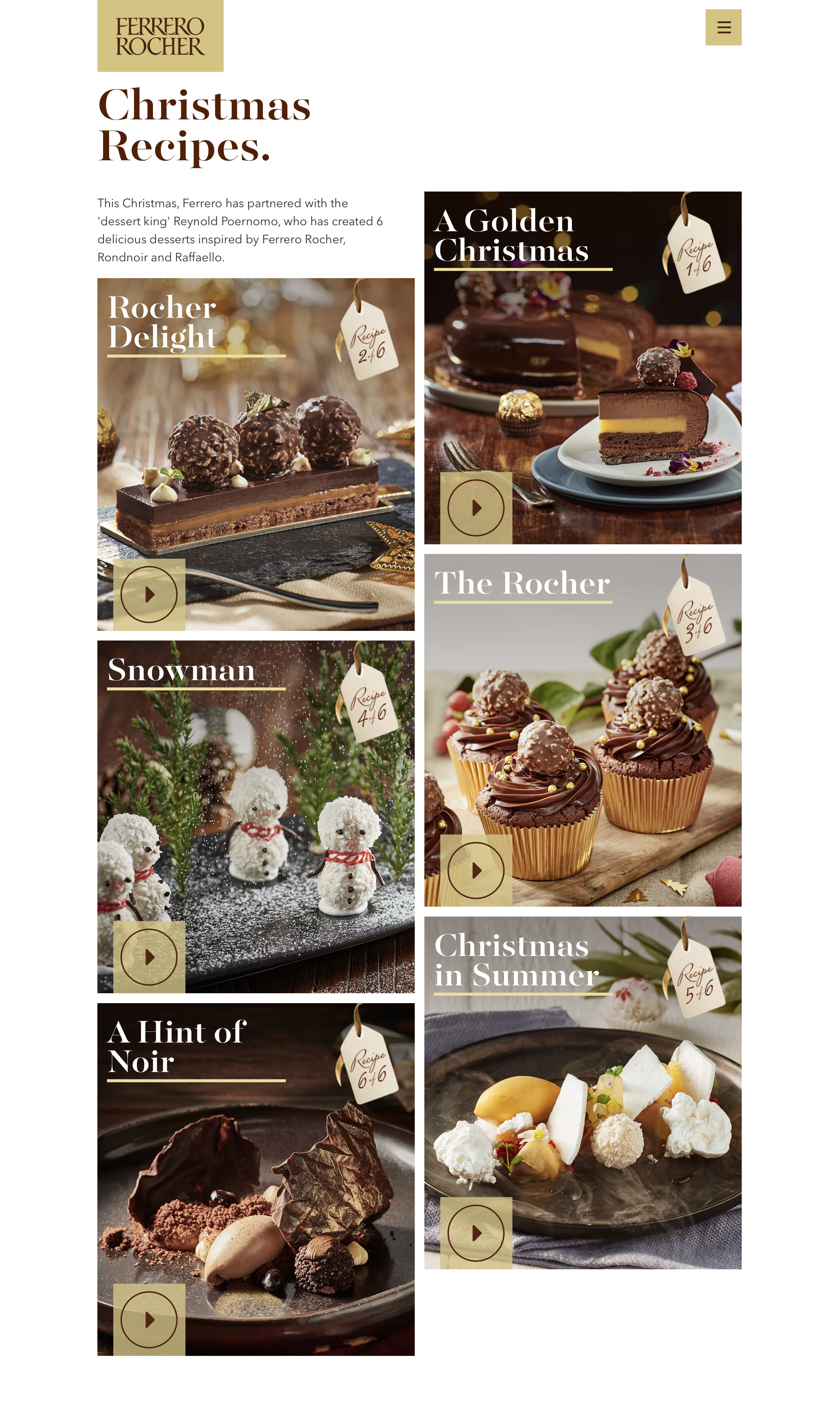 Ferrero Rocher Launches New Christmas Campaign With Dessert King
