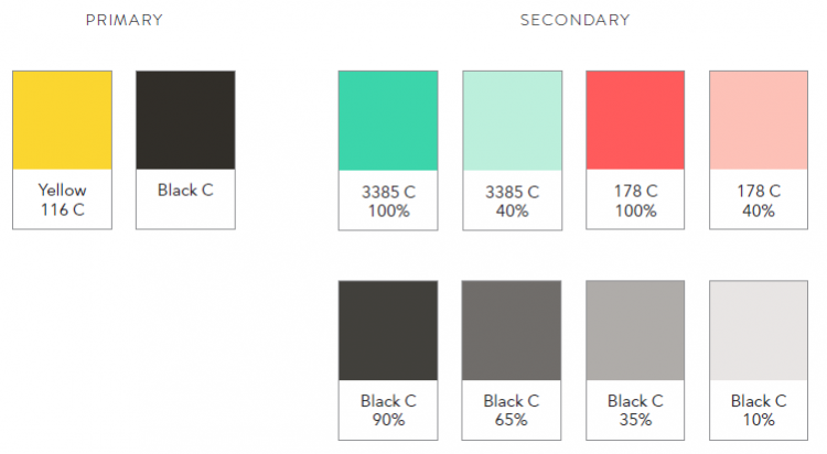 Marley Spoon's new colour palette