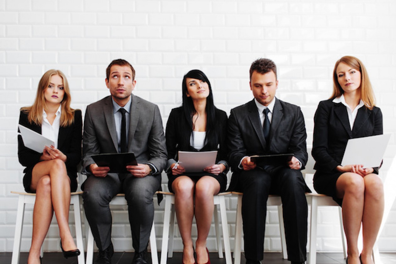 hot jobs online retail it data sports marketing top list of stressed business people before interview