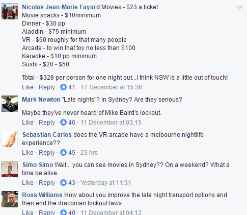 facebook transport of nsw