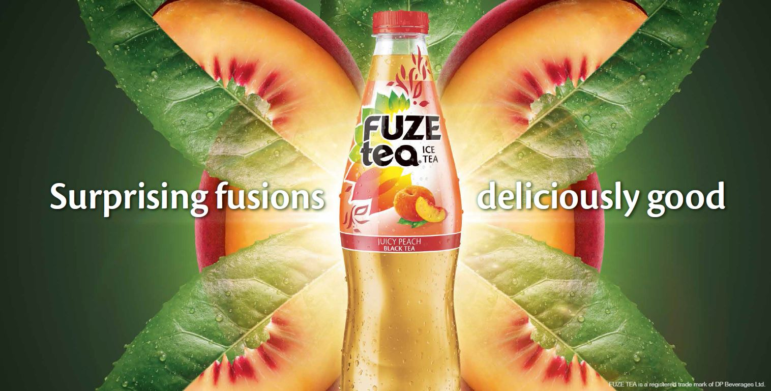 Fuze Tea Peach OOH Landscape