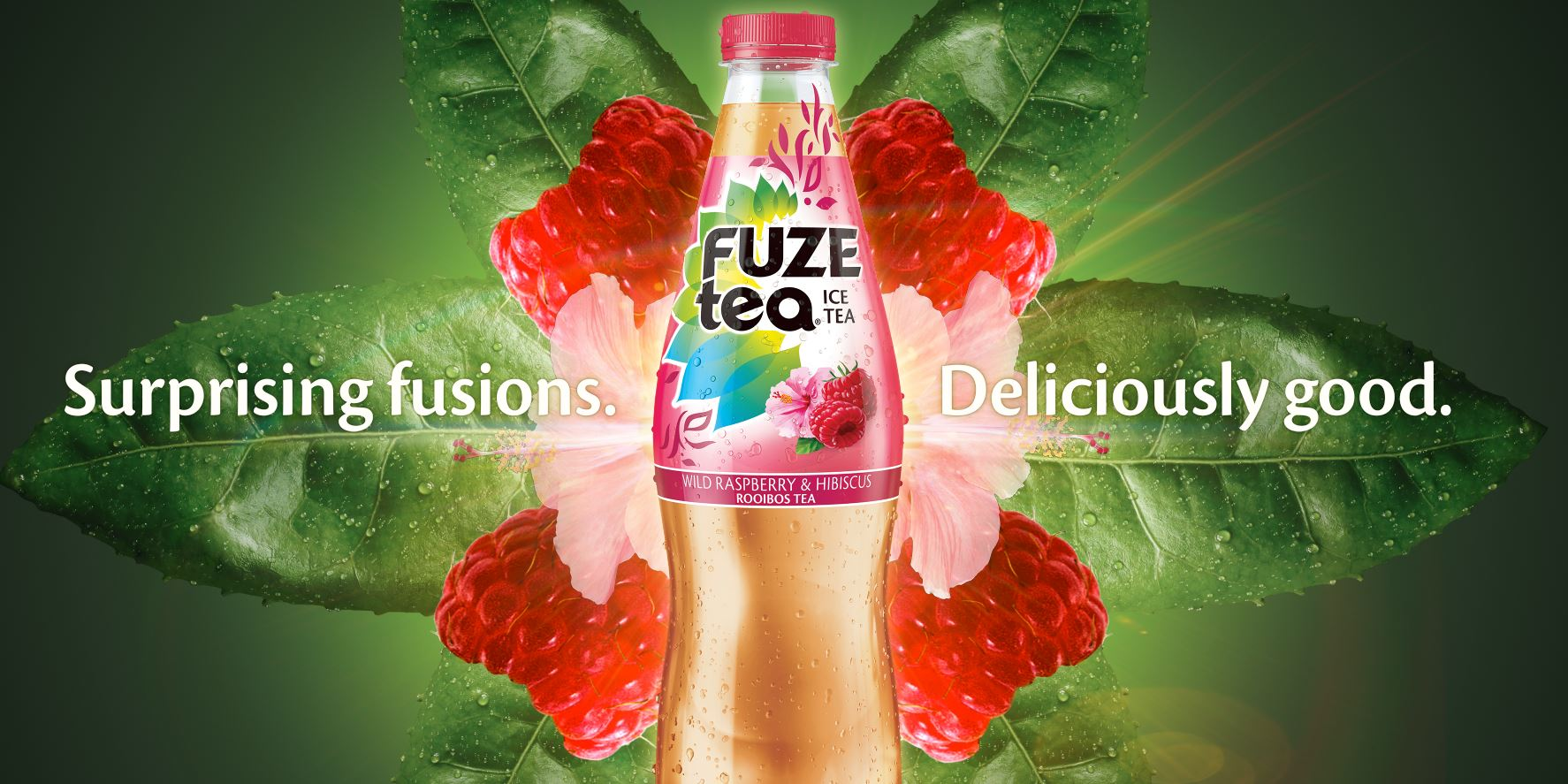 Fuze Tea Raspberry OOH Landscape
